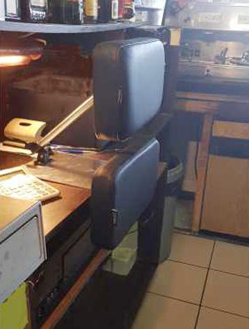De mobiele rugsteun in de horeca van Werkplekaanpassingen